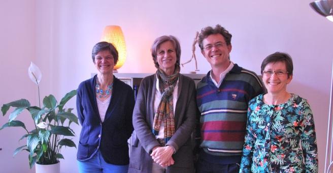 De gauche à droite : Myriam Terlinden - Véronique de Thuy-Croizé - Jean-François Frys - Myriam Denis